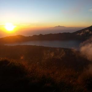 sopka a jezero Batur.  Relax Bali resort