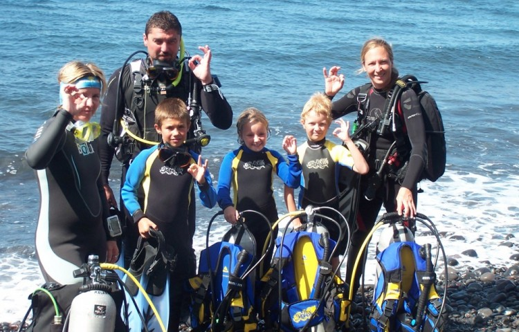 diving courses for whole family