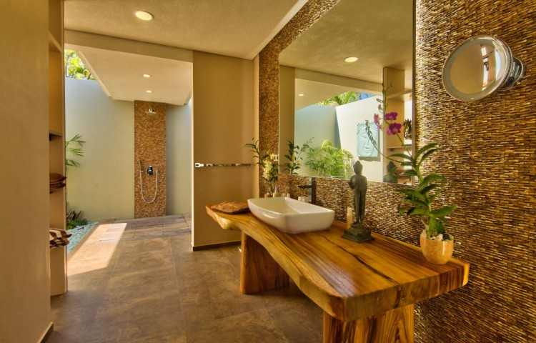 Your bathroom with shower and toilet. The view from the bedroom