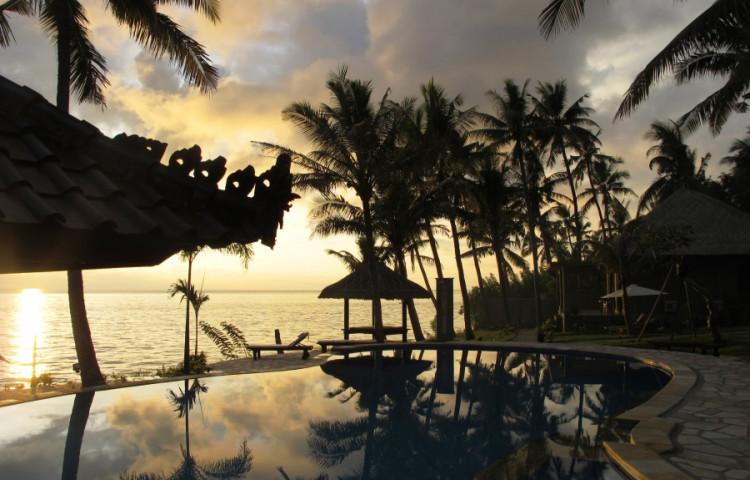 ráno na resortu RELAX BALI