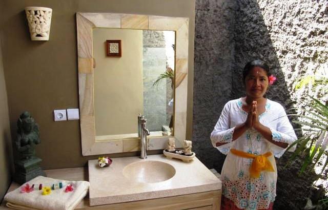 koupelna části Relax ( de luxe) resortu RELAX BALI