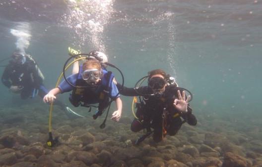 zkušební ponor je bezpečný, vedou ho opravdový a zkušení profesionálové - RELAX BALI