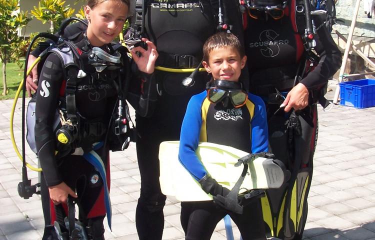 potápění pro celou rodinu