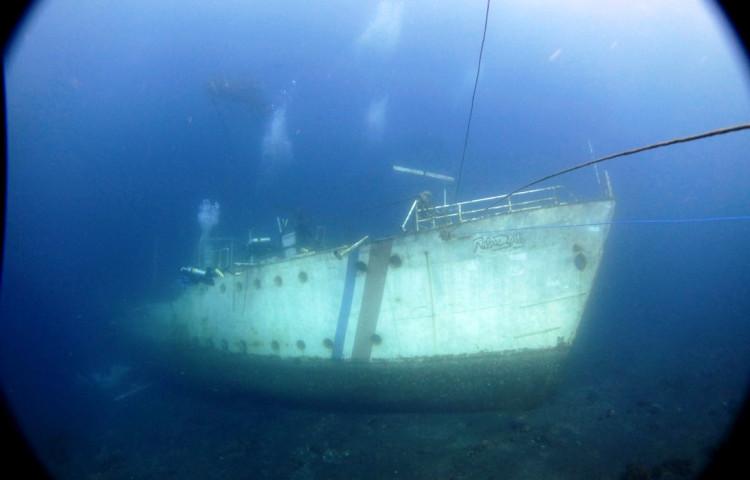Relax Bali shipwreck Relax Bali, 43 m long