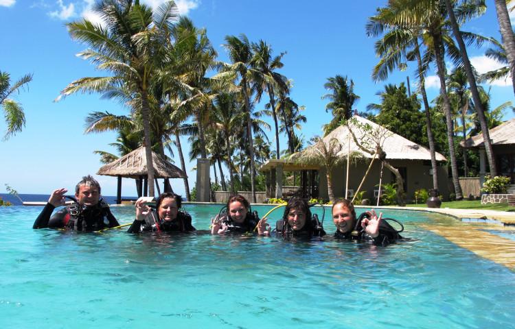 diving pool, depth 3,5 m
