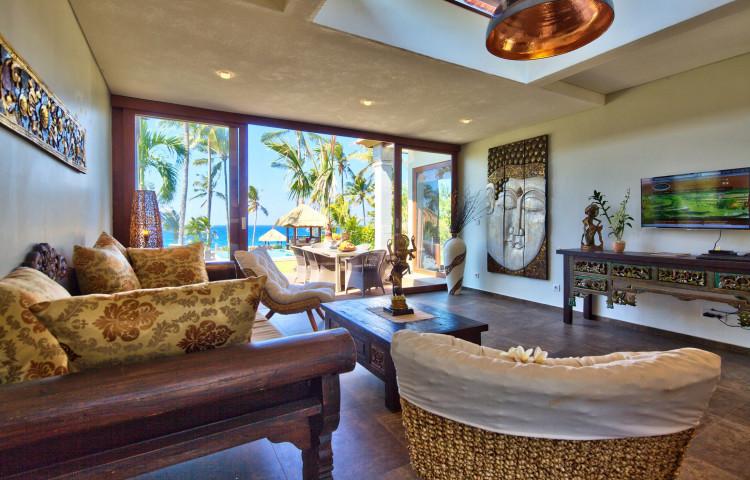 výhled z ložnice vily Relax residence