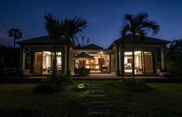 vila Relax Bali residence v podvečer